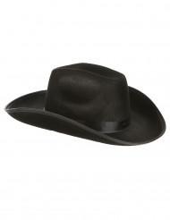 Sombrero de cowboy negro adulto
