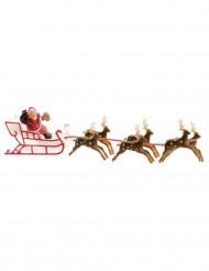 Decoración pastel trineo de Papá Noel 22 cm