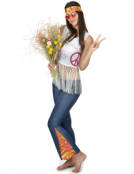 Disfraz hippie para mujer peace and love