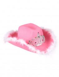 Sombrero cowgirl rosa mujer