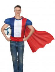 Camiseta superhéroe con capa adulo -Francia