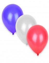 50 Globos tricolores azul, rojo, blanco