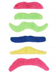 6 Bigotes adhesivos fluorescentes