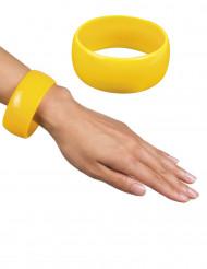 Pulsera ancha amarilla mujer