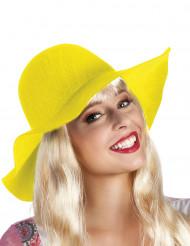 Sombrero estival amarillo mujer