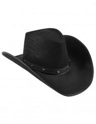 Sombrero vaquero negro para adulto