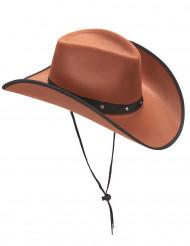 Sombrero de vaquero marrón adulto