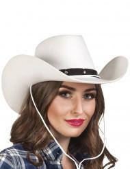 Sombrero de vaquero blanco adulto