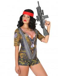 Camiseta de soldado para mujer