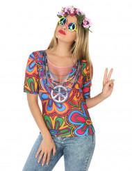 Camiseta hippie mujer años 60