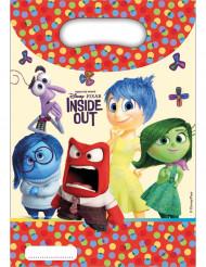 6 Bolsas regalo cumpleaños Del revés Inside Out™