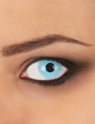 Lentillas de contacto fantasía azul glacial adulto