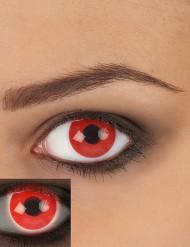 Lentillas contacto fantasía UV rojas adulto