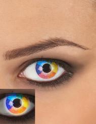 Lentillas de contacto fantasía UV arcoíris adulto