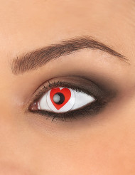 Lentillas contacto fantasía corazón rojo adulto