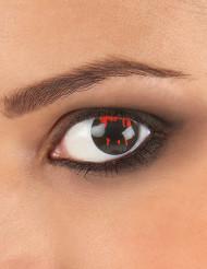 Lentillas de contacto fantasía ojo herido negro adulto Halloween
