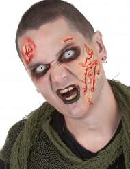 Kit de maquillaje zombie con lentillas adulto Halloween