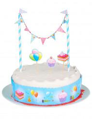 Decoración azul para postres de cumpleaños