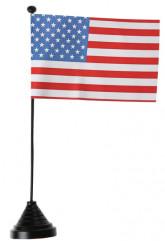 Bandera USA con base
