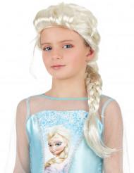 Peluca trenzada rubia princesa niña