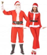 Disfraz pareja Papá y Mamá Noel adultos