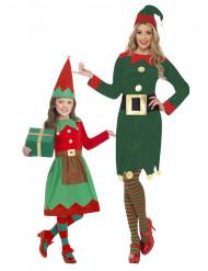 Disfraz pareja elfos Navidad madre hija