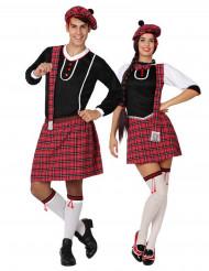 Disfraz de pareja escoceses adulto