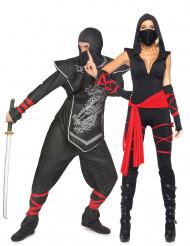 Disfraz de pareja ninja adulto