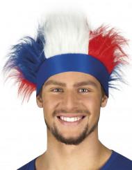 Diadema con pelo tricolor Francia adulto