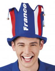 Sombrero hincha con cascabeles Francia adulto