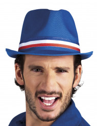 Sombrero gánster azul hincha Francia adulto