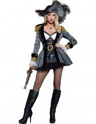 Disfraz de pirata de los mares mujer - Premium