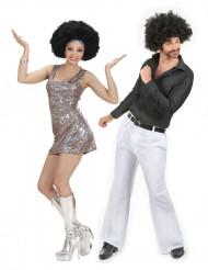 Disfraz de pareja disco adultos