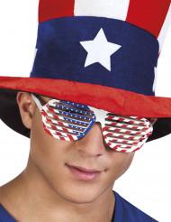 Gafas blancas bandera USA adulto