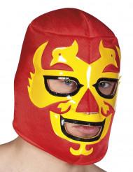 Máscara luchador roja adulto