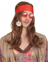 Peluca Hippie Babos adulto