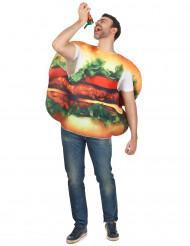 Disfraz de hamburguesa adulto