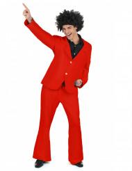 Disfraz disco rojo adulto