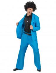 Disfraz disco azul adulto