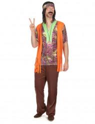 Disfraz de hippie collar hombre