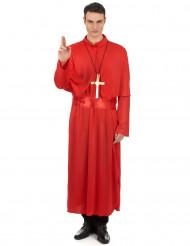 Disfraz de cura rojo adulto