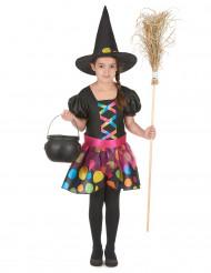 Disfraz de bruja multicolor niña