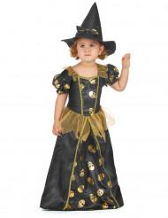 Disfraz de bruja dorado niña