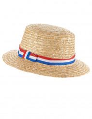 Sombrero canotier hincha Francia adulto