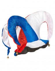 Sombrero de arlequín tricolor adulto