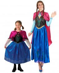 Disfraz de pareja Anna Frozen™ madre niña