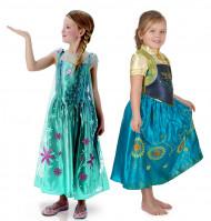 Disfraz de pareja Anna y Elsa Frozen Fever™ niña