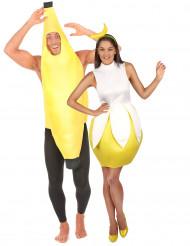 Disfraz de pareja banana adultos