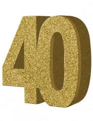 Decoración de mesa 40 años