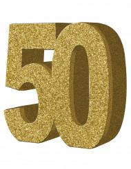 Decoración de mesa 50 años